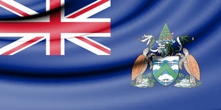 Flag of Ascension Island. Royalty Free Stock Images