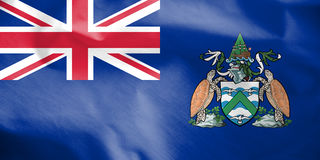 Flag of Ascension Island. Royalty Free Stock Photography