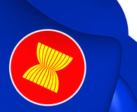 Flag of ASEAN Royalty Free Stock Images