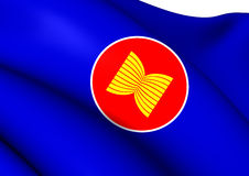 Flag of ASEAN Royalty Free Stock Photography
