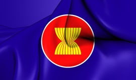 Flag of ASEAN Stock Photos