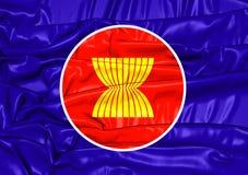 Flag of ASEAN Stock Image