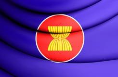 Flag of ASEAN Royalty Free Stock Photo