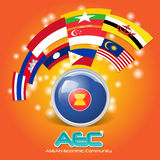 Flag of Asean Economic Community AEC 03 Royalty Free Stock Photos