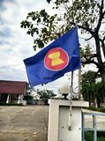 Flag of asean economics community Royalty Free Stock Photos