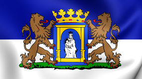 Flag of Assen, Netherlands. Royalty Free Stock Photography