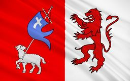 Flag of Auch, France. Flag of Auch is a commune in southwestern France. Located in the region of Midi-Pyrenees, it is the capital of the Gers department. Auch is stock illustration