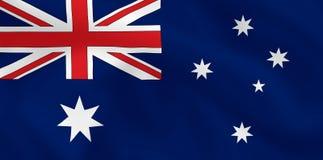 Flag of Australia. Australian waving flag (background or wallpaper Stock Photography