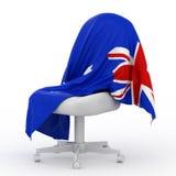 Flag of Australia. Flag of Australia on white chair Stock Image