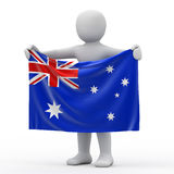 Flag of Australia. Stock Photography