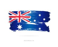 Flag of Australia. Abstract concept Royalty Free Stock Image