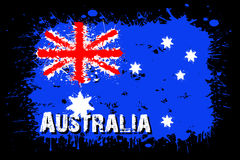 Flag of Australia from blots of paint. In grunge style. Vector illustration Royalty Free Stock Photography