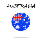 Flag of Australia from blots of paint. In grunge style. Vector illustration Stock Photography