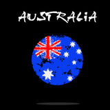 Flag of Australia from blots of paint. In grunge style. Vector illustration Royalty Free Stock Images
