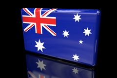 Flag of Australia 3D volumetric. Close up Royalty Free Illustration