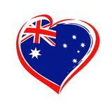 Happy Australia Day lettering and heart emblem Royalty Free Stock Image