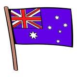 Flag of Australia icon cartoon Royalty Free Stock Photography