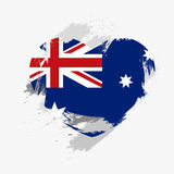 Flag of Australia. Isolated on grunge heart. Vector illustration Royalty Free Illustration