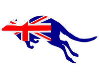 Flag of Australia with kangaroo Stock Image