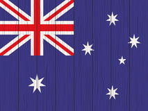 Flag of Australia. Painted on a wooden wall Stock Images