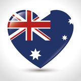 The flag of Australia with Union Jack and stars. Vector illustration graphic design Stock Photo