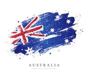 Flag of Australia. Vector illustration. Independence Day in Australia. Flag of Australia. Vector illustration on white background. Brush strokes drawn by hand stock illustration