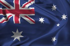 Flag of Australia waving Royalty Free Stock Photo