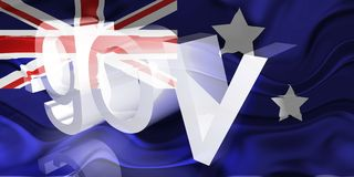 Flag of Australia wavy government Royalty Free Stock Photography