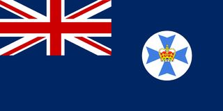 Queensland State Flag. The flag of the Australian state of Queensland Royalty Free Stock Images