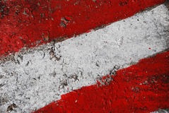 Flag of Austria. Painted on a concrete stock photo