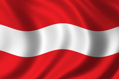 Flag of Austria. Waving in the wind Royalty Free Stock Image