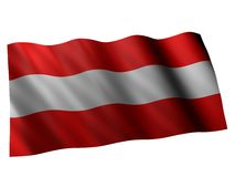 Flag of austria. 3d rendered illustration of the austrian banner Royalty Free Stock Photos