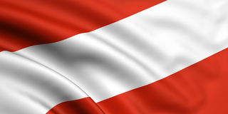 Flag Of Austria. 3d rendered and waving flag of austria Stock Photos