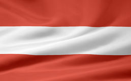 Flag of Austria. A very large version of an austrian flag Stock Images