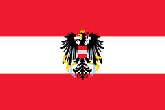 Flag of austria Stock Image