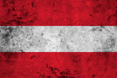 Flag of the Austria close up Royalty Free Stock Photo