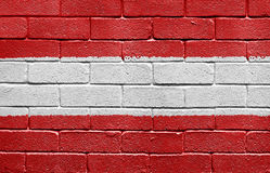 Flag of Austria on a brick wall Stock Image