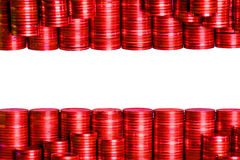 Flag Austria. Buildt by coins Stock Images
