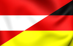 Flag of Austria and Germany Stock Photos