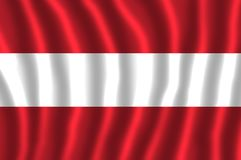 The national flag of Austria has three equal horizontal bands of red top, white, and red. The flag of Austria has three equal horizontal bands of red top, white royalty free illustration