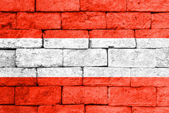 Flag of Austria on old brick wall. Royalty Free Stock Images