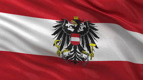 Flag of Austria seamless loop Stock Images