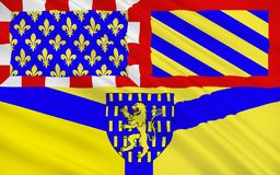 Flag of Auxerre, France royalty free illustration