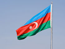 Flag of Azerbaijan Stock Photography