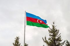Flag of Azerbaijan Royalty Free Stock Images