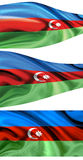 Flag Azerbaijan Royalty Free Stock Photography