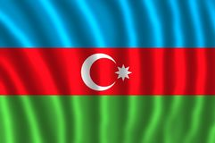 The flag of Azerbaijan tricolour. The flag of Azerbaijan is a horizontal tricolour featuring three equally sized fesses of blue, red, and green, with a white vector illustration
