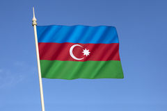 Flag of Azerbaijan Royalty Free Stock Photo