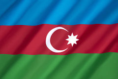 Flag of Azerbaijan Stock Image