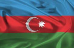 Flag of Azerbaijan waving Royalty Free Stock Photos